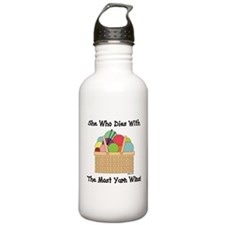 SHE WHO DIES WITH... Water Bottle