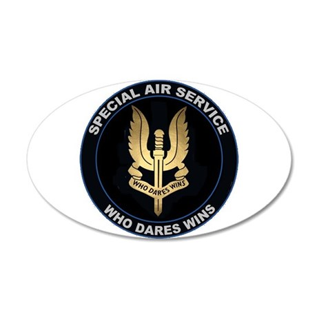 Special Air Service 20x12 Oval Wall Decal