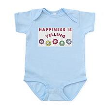 HAPPINESS IS YELLING BINGO Body Suit
