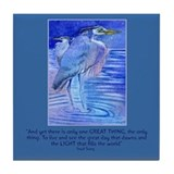 Herons in blue Tile Coaster