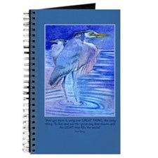 Herons in blue Journal