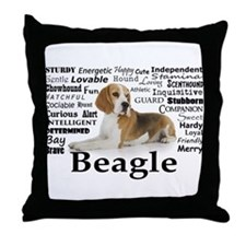 Beagle Traits Throw Pillow
