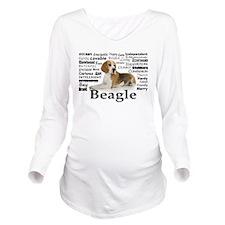 Beagle Traits Long Sleeve Maternity T-Shirt