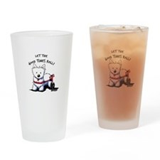 Good Times Westie Drinking Glass