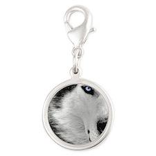 eye Silver Round Charm