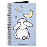 Bunny Wishing On Star Blue Notebook Sketchbook