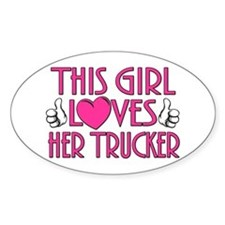 Loves Her Trucker Decal