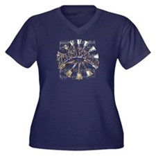 Handbells Women's Plus Size V-Neck Dark T-Shirt