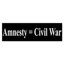 Amnesty = Civil War Bumper Bumper Sticker