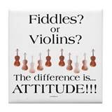 Violin Fiddle Tile Coaster