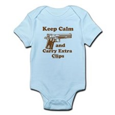 Keep Calm and Carry Extra Clips Body Suit