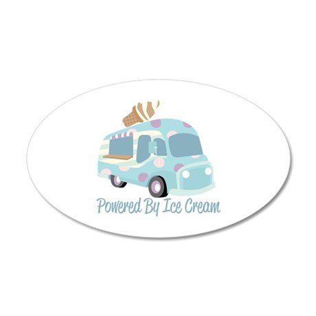 Powered By Ice Cream Wall Decal
