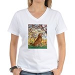 Spring & Golden (#12) Women's V-Neck T-Shirt