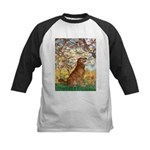 Spring & Golden (#12) Kids Baseball Jersey