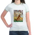 Spring & Golden (#12) Jr. Ringer T-Shirt