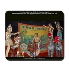 The Incredible Frog Girl Mousepad