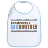 going to be a big brother brown blue Bib