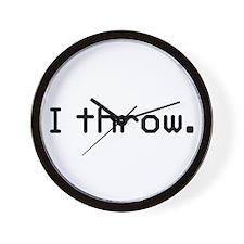 I throw Wall Clock