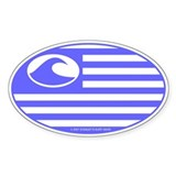 Surf International Oval Decal