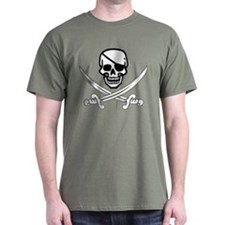 Eyepatch Skull & Crossed Swords T-Shirt