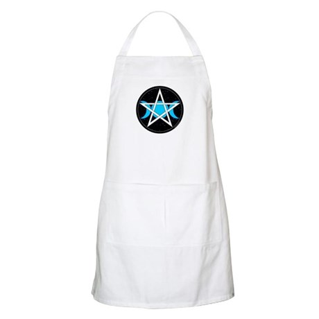 Pentacle Triple Moon BBQ Apron - Black
