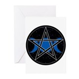 Pentacle Triple Moon Greeting Cards- Celestial (6)