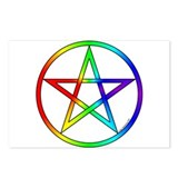 Rainbow Pentacle Postcards (Package of 8)