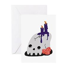 Halloween Skull Greeting Cards