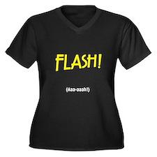 Funny Freddie Women's Plus Size V-Neck Dark T-Shirt
