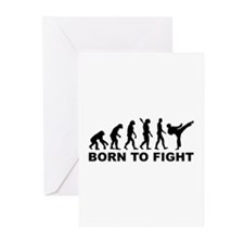 Evolution Karate fight Greeting Cards (Pk of 10)