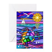 Unique Turtles Greeting Card