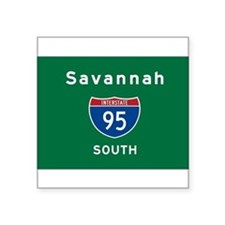 "Savannah 95 Square Sticker 3"" X 3"""