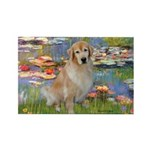 Lilies & Golden Rectangle Magnet (10 pack)