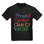 Class Of 2028 Pride Kids Dark T-Shirt