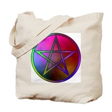 Watercolor Pentacle & Triple Moon Rev. Tote Bag