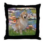 Lilies & Golden Throw Pillow