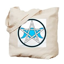 Pentacle Triple Moon Tote Bag - Rev. Black/White