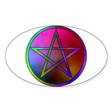 Watercolor Pentacle Oval Decal