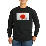 Japan Japanese Flag Long Sleeve Dark T-Shirt