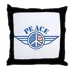 Patriotic Peace Design Throw Pillow