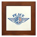 Patriotic Peace Design Framed Tile