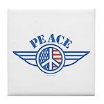 Patriotic Peace Design Tile Coaster