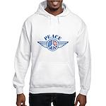 Patriotic Peace Design Hooded Sweatshirt