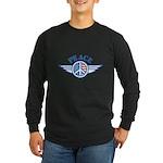 Patriotic Peace Design Long Sleeve Dark T-Shirt