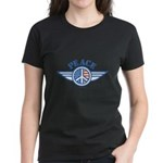 Patriotic Peace Design Women's Dark T-Shirt