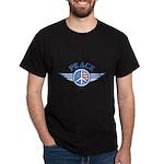 Patriotic Peace Design Dark T-Shirt