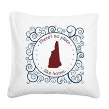 New Hampshire Square Canvas Pillow