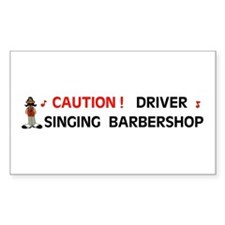 DRIVER SINGING Rectangle Decal