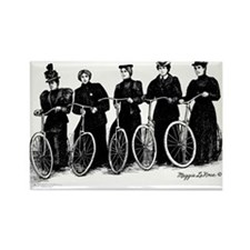 Five Lady Cyclers Magnets