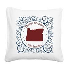 Oregon Square Canvas Pillow